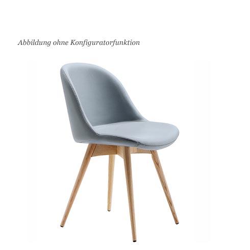 blue wall design lederstuhl via sonny. Black Bedroom Furniture Sets. Home Design Ideas