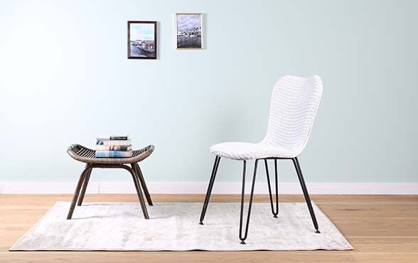 Blue wall design lloyd loom stuhl christy for Design stuhl geflecht
