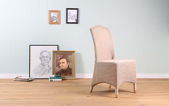 blue wall design lloyd loom stuhl seaside blue wall. Black Bedroom Furniture Sets. Home Design Ideas
