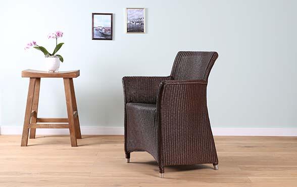 blue wall design lloyd loom stuhl sydney. Black Bedroom Furniture Sets. Home Design Ideas