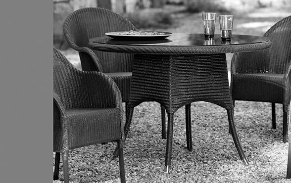 blue wall design gartentisch nimes lloyd loom rund 110. Black Bedroom Furniture Sets. Home Design Ideas