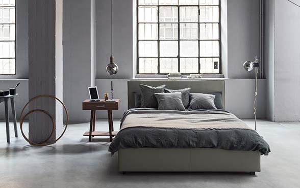 Blue Wall Design - Polsterbett Linea