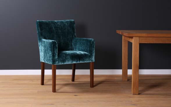 blue wall design polsterstuhl samt mouzon velvet. Black Bedroom Furniture Sets. Home Design Ideas
